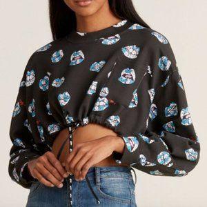 Au jour le jour cropped drawstring sweatshirt